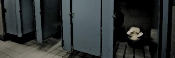 Bathroom Doors Propped Open
